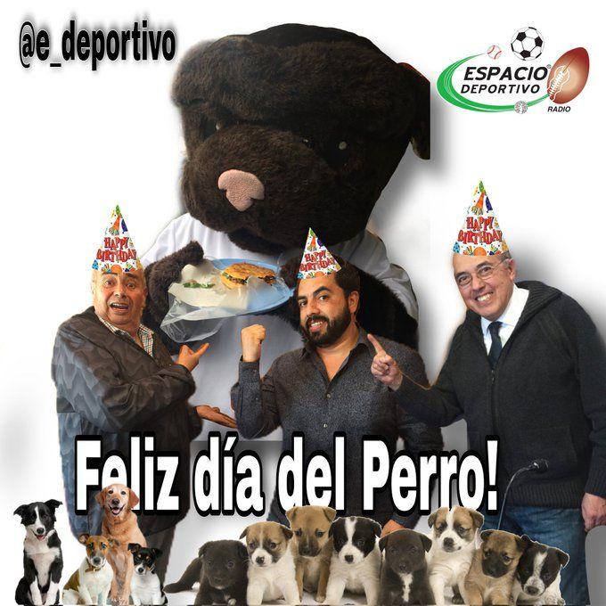 Celebrando el día del Perro en Espacio Deportivo de la Tarde 21 de Julio 2021