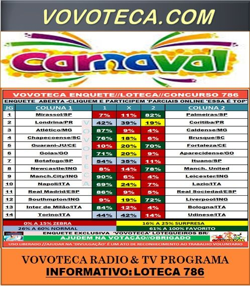 786 A LOTECA DO CARNAVAL