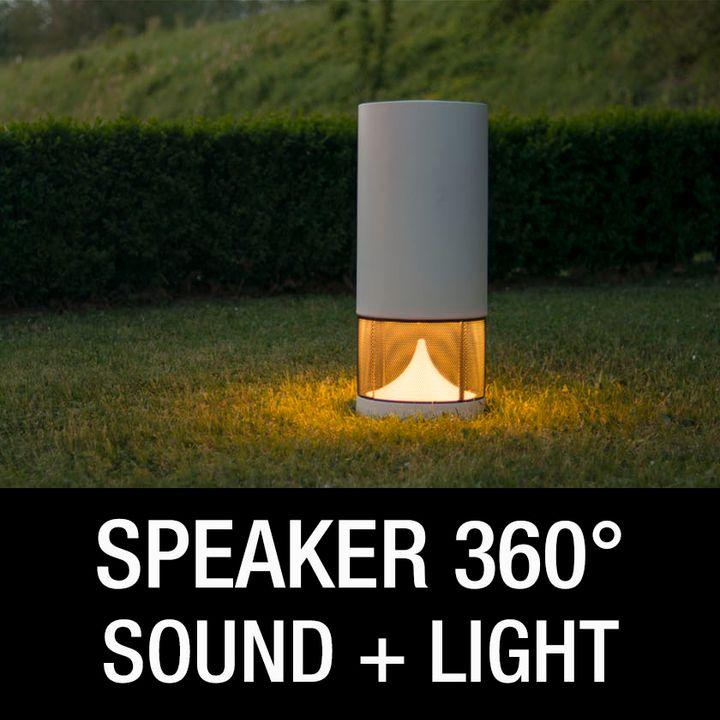 Diffusore acustico 360° con luce led integrata