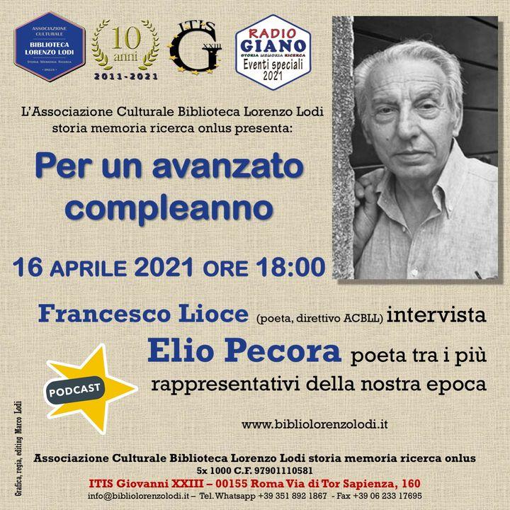 L'ACBLL presenta : Francesco Lioce intervista Elio Pecora | Per un avanzato compleanno