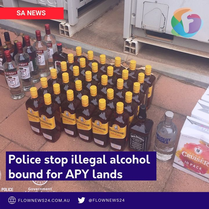 Police seize illegal alcohol destined for APY Lands