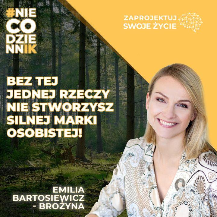 #NIECODZIENNIK-klucz do stworzenia silnej marki osobistej-Emilia Bartosiewicz-Brożyna