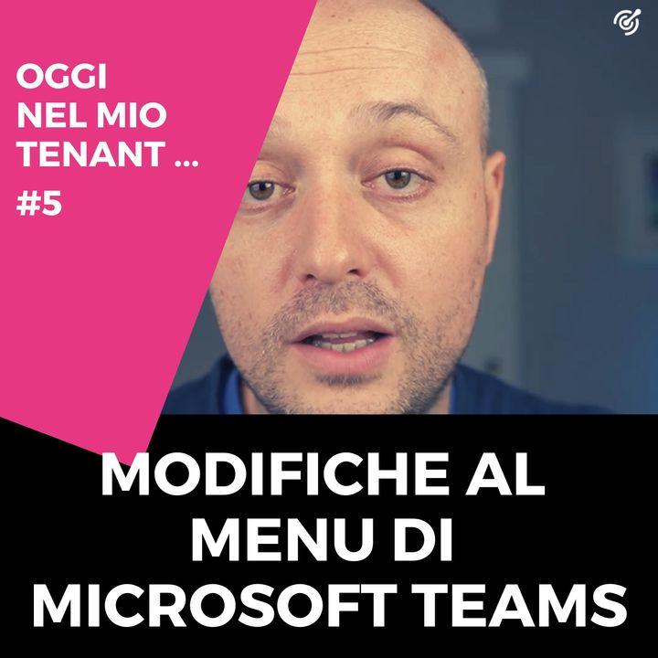 Modifiche al menu personale di Microsoft Teams per cambiare sottoscrizione Microsoft 365