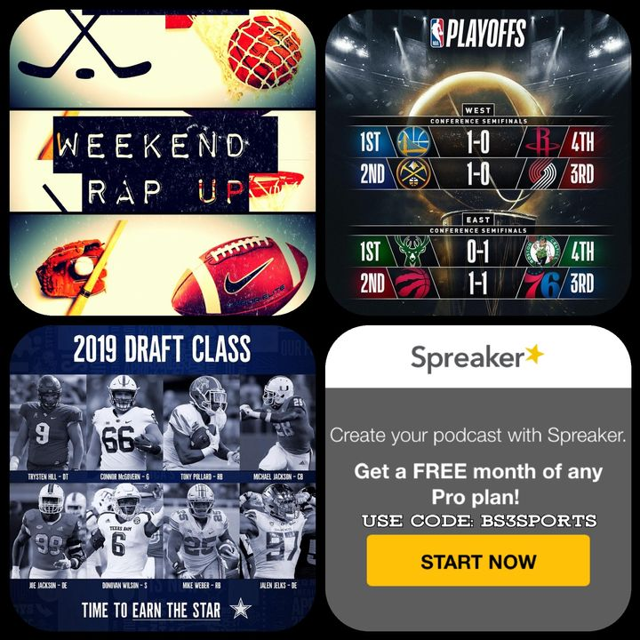 "Weekend Rap Up Ep. 126- ""Give Your Team a #NFLDRAFT Grade|#NBAPlayoffs"""