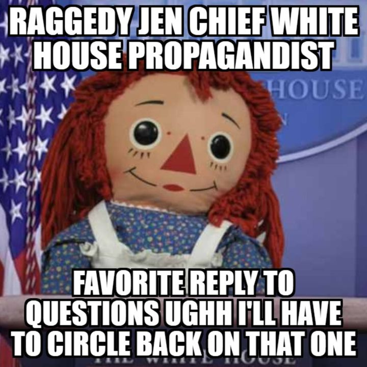 Episode 681: VIDEO TIME MACHINE CHIEF BIDEN PROPAGANDIST RAGGEDY JEN HER BOSS ILLEGAL JOE HAS NO PLANS TO ADDRESS THE NATION