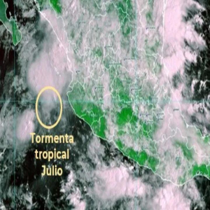 Tormenta Tropical Julio provoca intensas lluvias en Jalisco, Nayarit y Michoacán