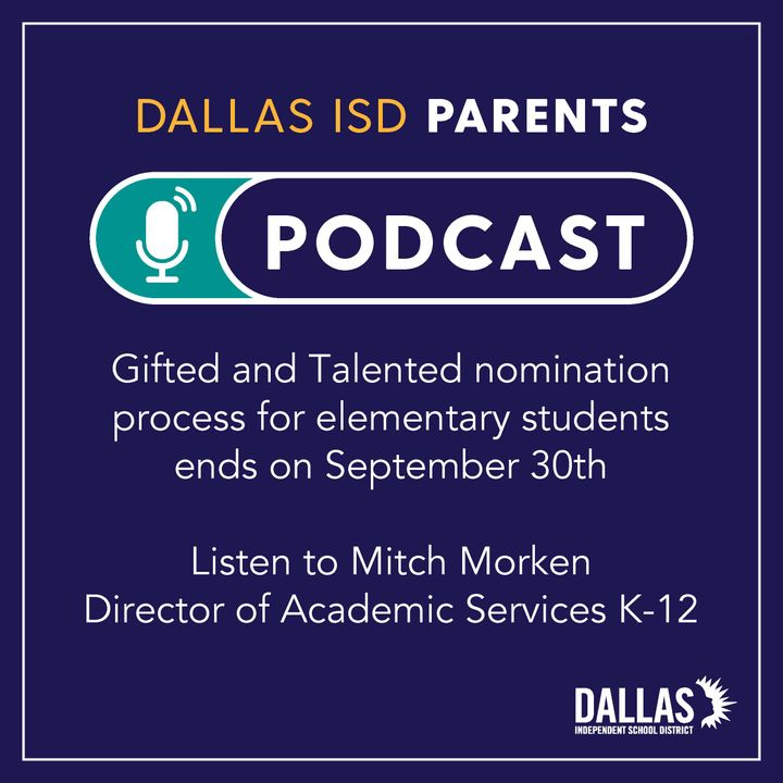 Talented and Gifted student program details and deadline for nominations