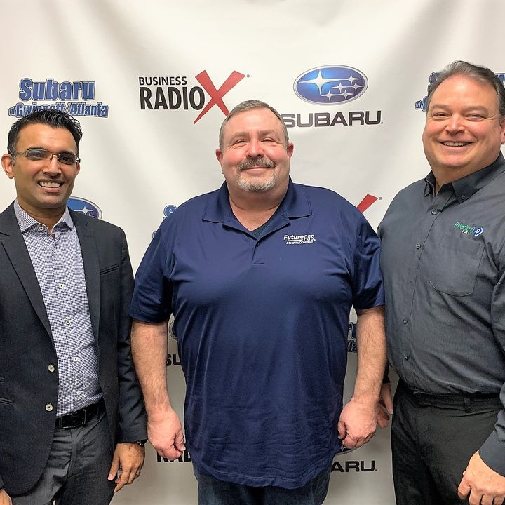 Asif Jessani with CCS: Marketing & Technology and Dennis Bonin & Randy Hicks with Priority1POS