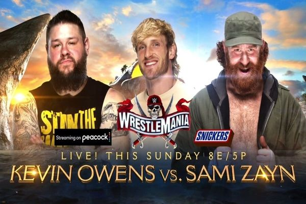WrestleMania 37 Kevin Owens vs. Sami Zayn with Logan Paul Alternative Commentary