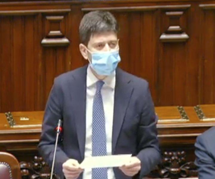 Informativa alla Camera del ministro Speranza su campagna vaccini
