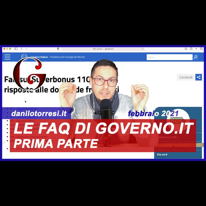 SUPERBONUS 110%: le FAQ del sito ufficiale del Governo (prima parte)