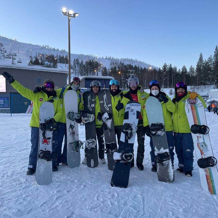 Intervista alla squadra italiana di Snowboard Paralimpico .