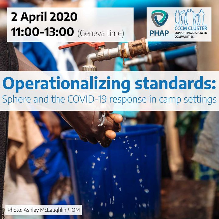 Operationalizing standards: Sphere and the COVID-19 response in camp settings