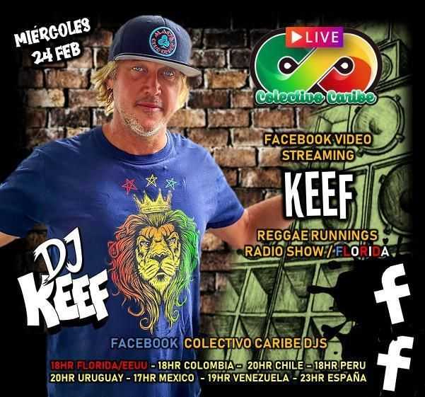 Dj Keef  Colectivo Caribe DJ Vinyl Mix LIVE