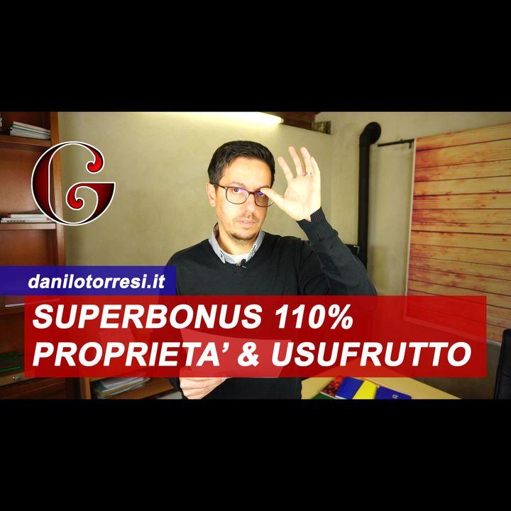 SUPERBONUS 110%: unico proprietario e usufruttuario villetta bifamiliare o più unità immobiliari