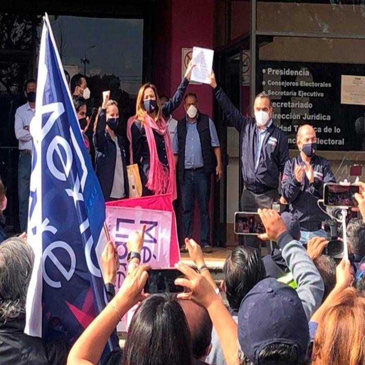 Zavala y Calderón impugnan ante INE la negativa de registro de México Libre