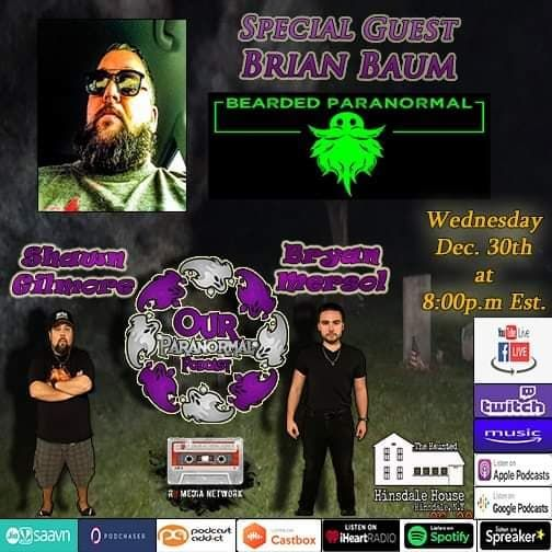 Our Paranormal Podcast w/ Special Guest Brian Baum