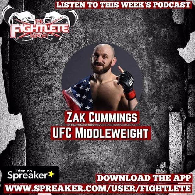 UFC Fight Night Rochester Zak Cummings Fightlete Report Interview