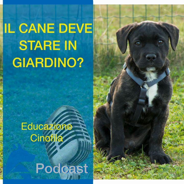 Il Cane deve stare in Giardino?