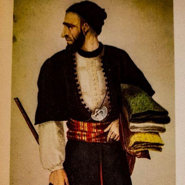 Il costume degli ebrei marocchini: l'uomo