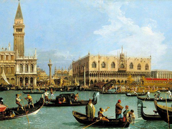 Ingresso alla Basilica di Venezia Canaletto