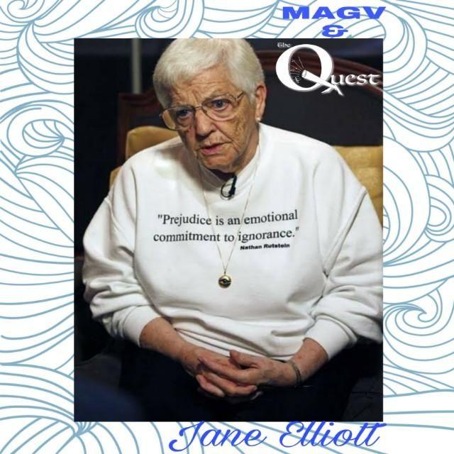 MAGV & Quest Nation. Jane Elliott. Blue Eyes - Brown Eyes Exercise.