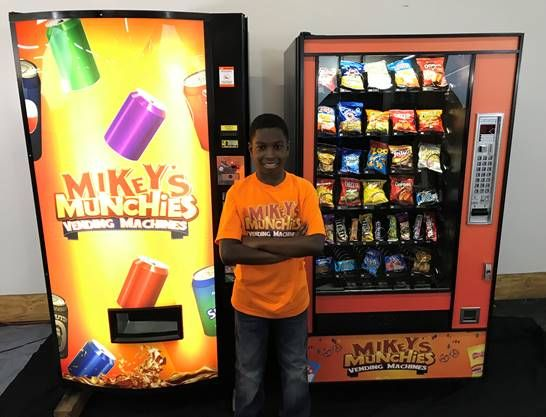12-Year Old Entrepreneur Owns Mikey's Munchies-Smile File