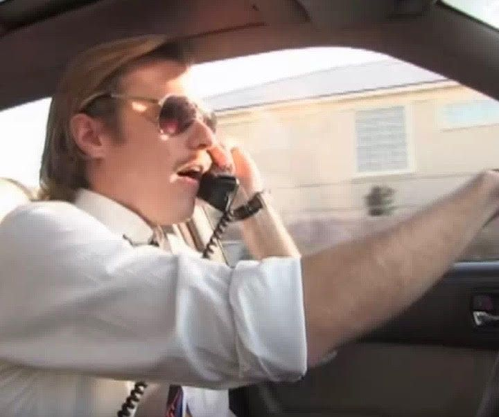 Our new listener, Chuck on a car phone