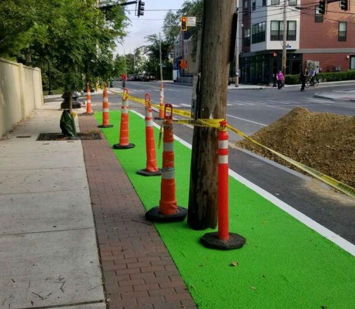 Why Is A Utility Pole Blocking A Somerville Bike Lane?