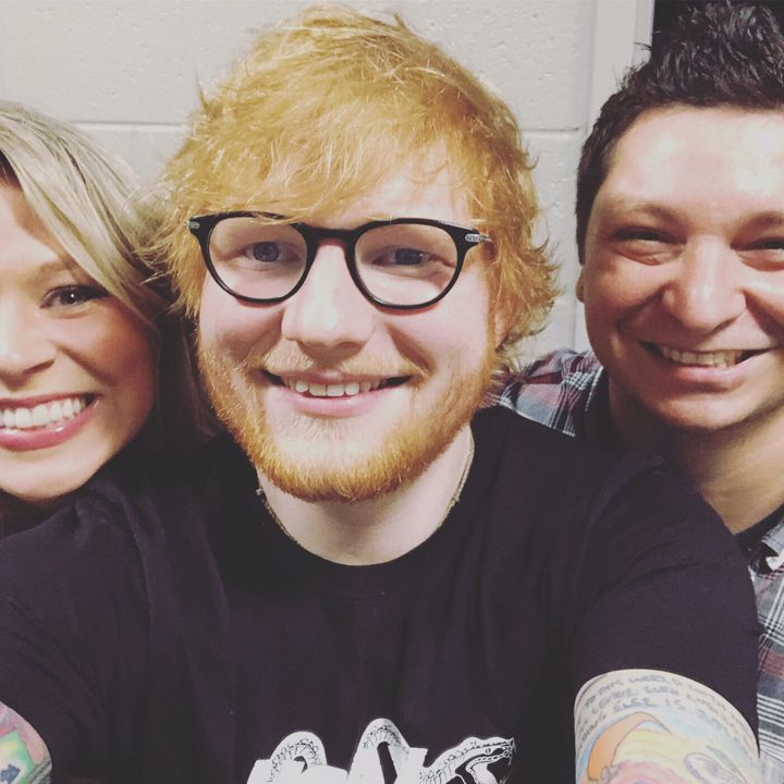 Yes, my voice cracked while meeting Ed Sheeran.