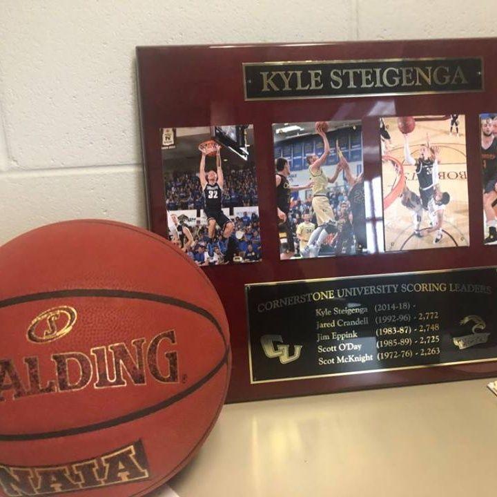 Kyle Steigenga - Cornerstone University Forward (2/13/18)