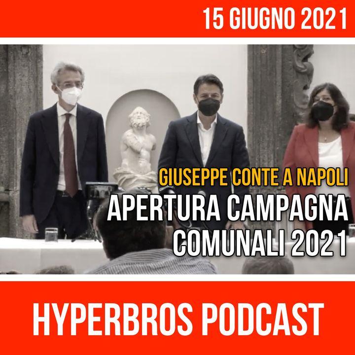 Napoli, Giuseppe Conte apre la campagna elettorale del candidato sindaco Gaetano Manfredi