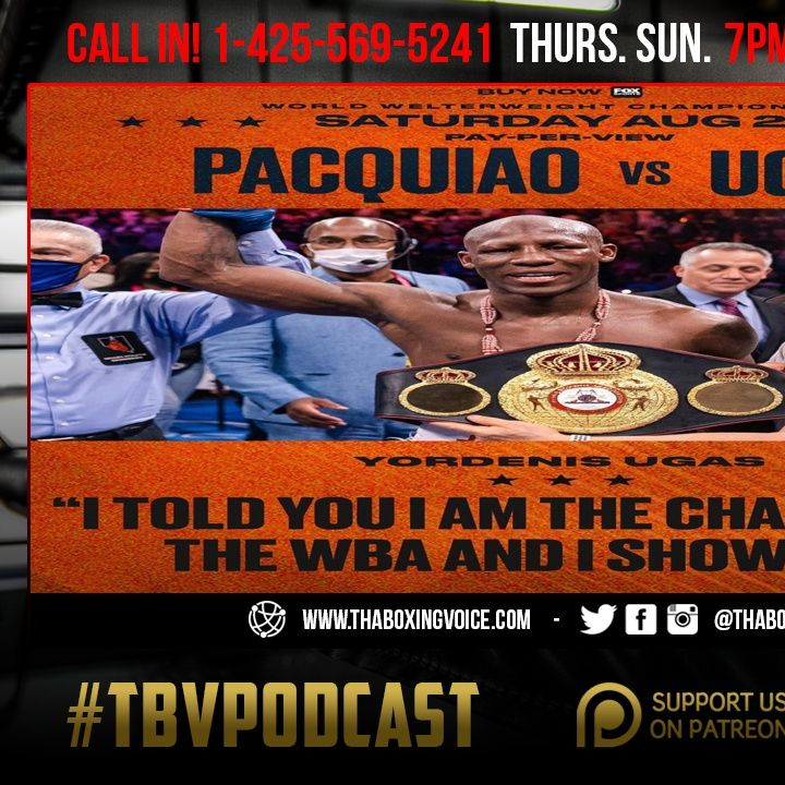 ☎️ Too Old? Too Small❓Ugas Retires The legend, Manny Pacquiao, 😱Crawford-Porter Purse Bid Sept 2nd🤑