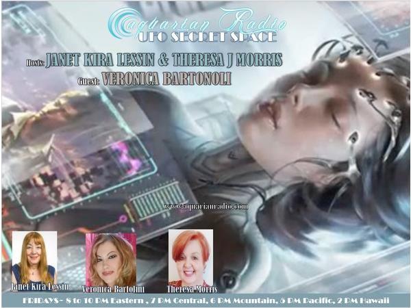 Veronica Bartolini ~ 09/11/20 ~ UFO Secret Space ~ Host Janet Kira Lessin & Ther