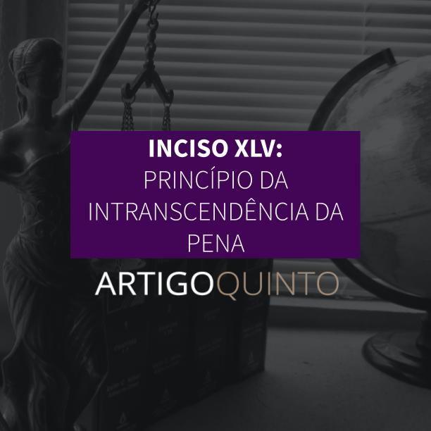 Inciso XLV: Princípio da Intranscendência da Pena - Artigo 5º