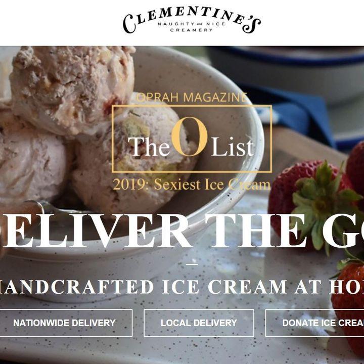 Ice Cream Dreams of Clementine's Naughty & Nice: HERstory & Oprah's list!