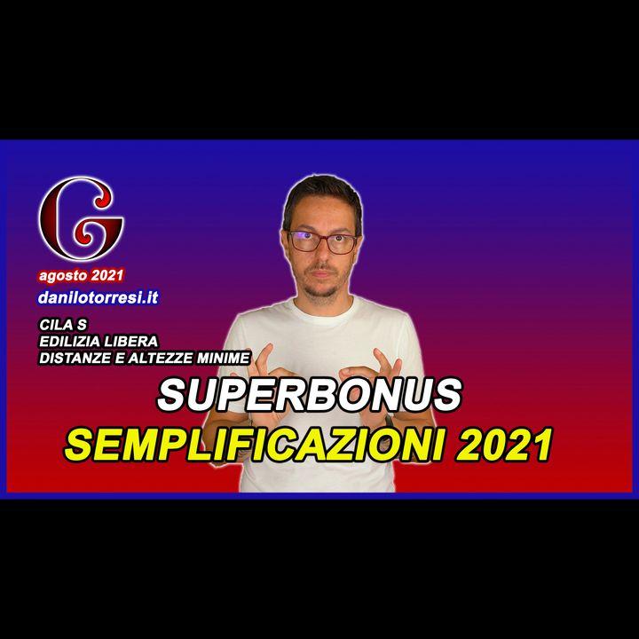 SUPERBONUS 110 semplificazioni 2021