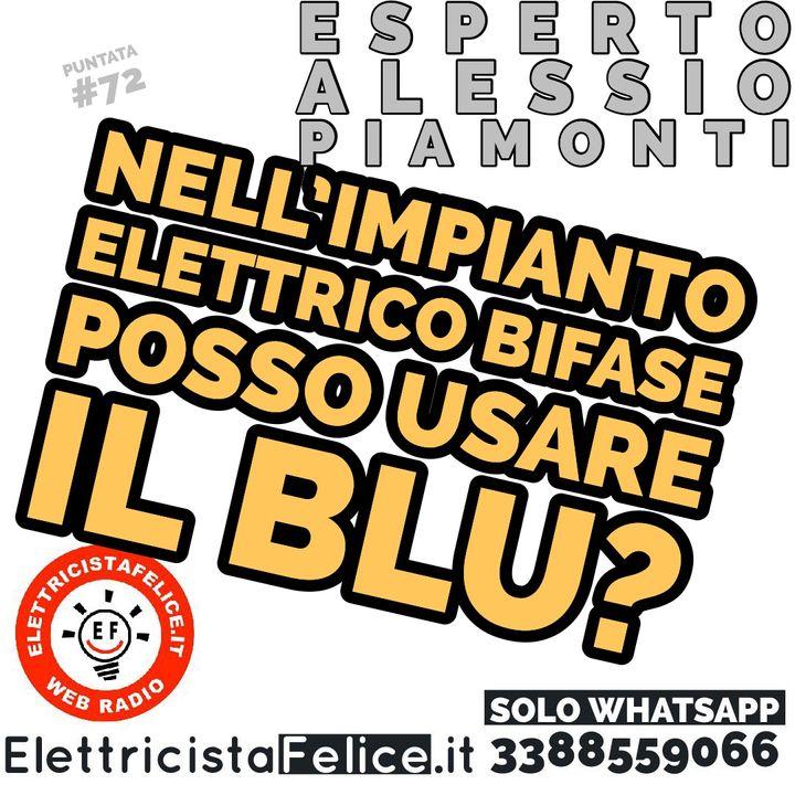#72 Nell'impianto elettrico bifase posso usare il blu?