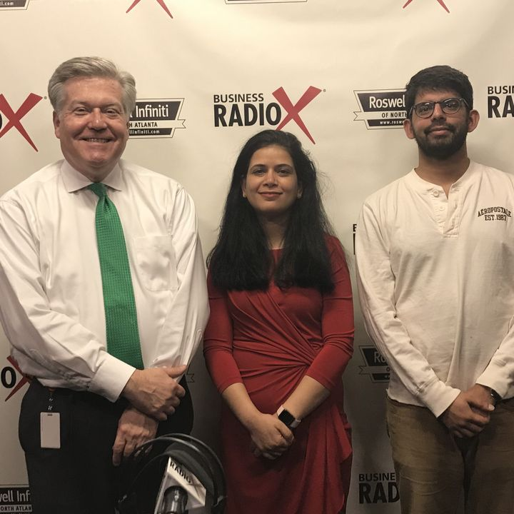Neerja Bharti with GeniusMesh and Asif Lakhani with Atlanta Tech Park