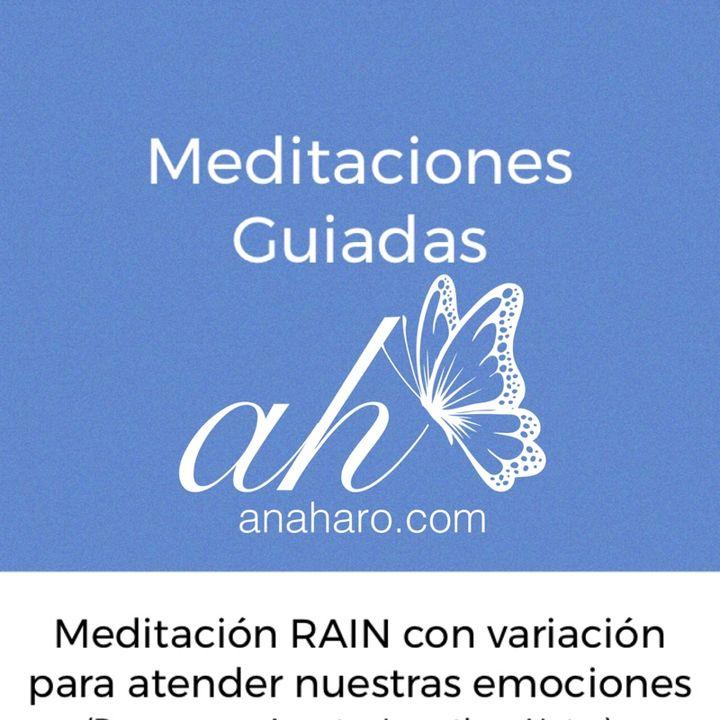 Meditación RAIN con variación para conectar con nuestro cuerpo