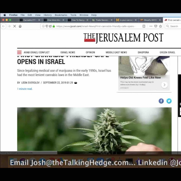 Israel Cannabis Cafe Opens, is Washington State Next? (2019)