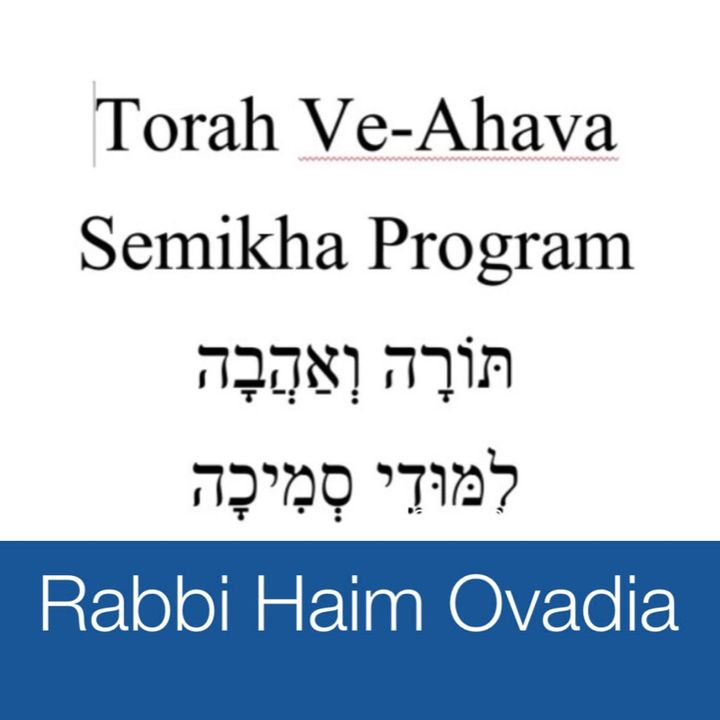 Semikha Program - Torah Ve-Ahava