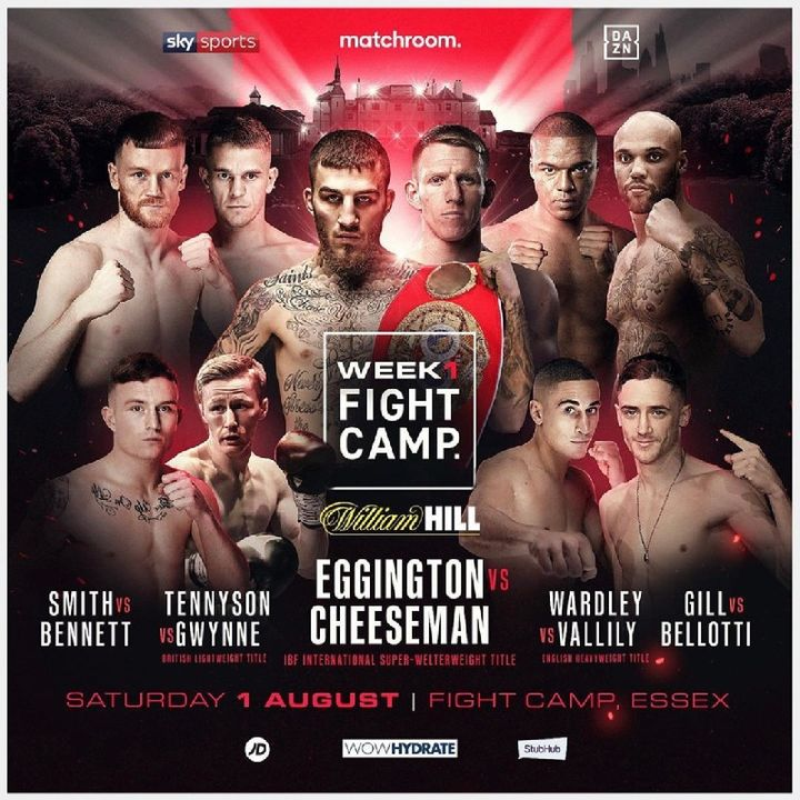 Preview Of The Fight Camp Card Live On Sky SportsHeadlined By Ted Cheeseman-Sam Eggington For The IBF International Super Welterweight Title