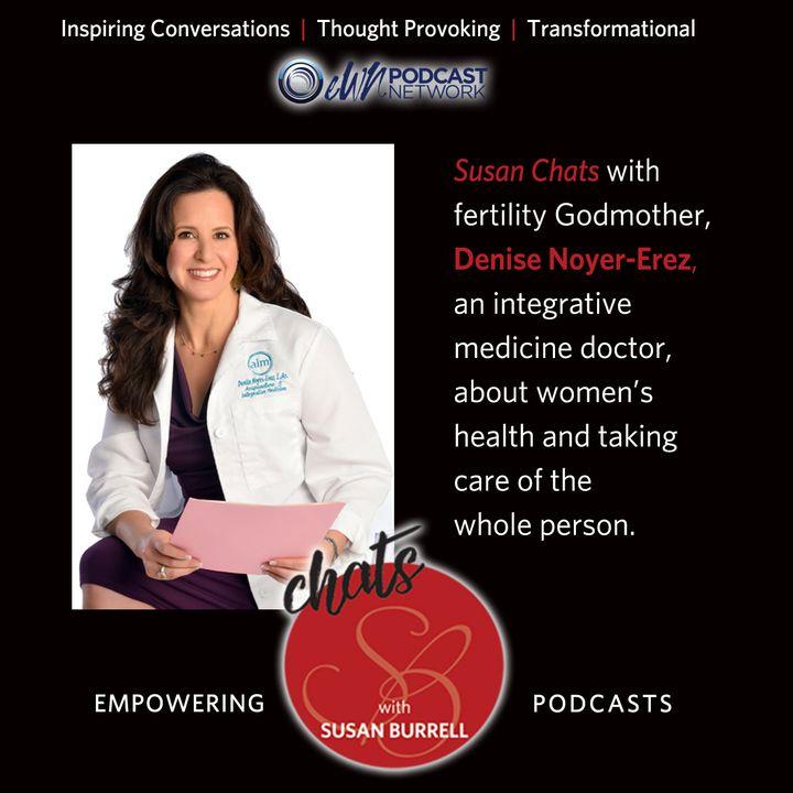 Susan chats with fertility Godmother, Denise Noyer-Erez