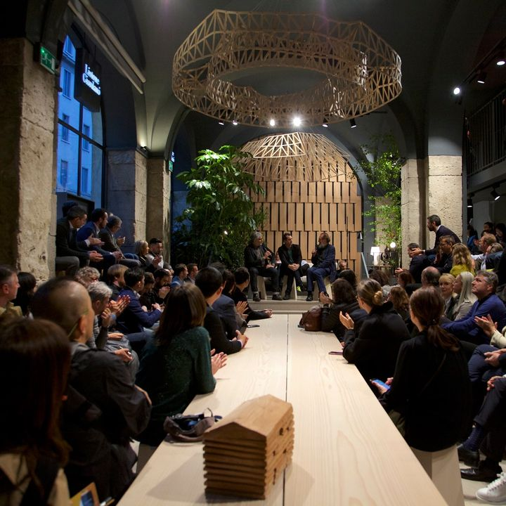 Michele De Lucchi unveils his Earth Stations workplace in Milan | Listone Giordano Arena