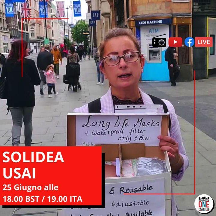 Solidea Usai, l'unica venditrice ambulante di mascherine a Londra