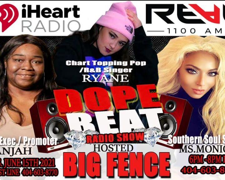 Ryane Corwin, interviews with DOPE BEAT RADIO on The Real 1100 AM-Atlanta