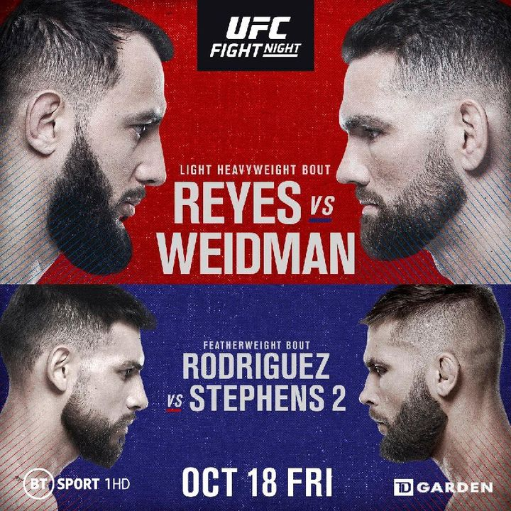 Preview Of The UFCONESPN6 Card In Boston Headlined By Chris Weidman-Dominick Reyes In A Big Light Heavyweight Fight!!