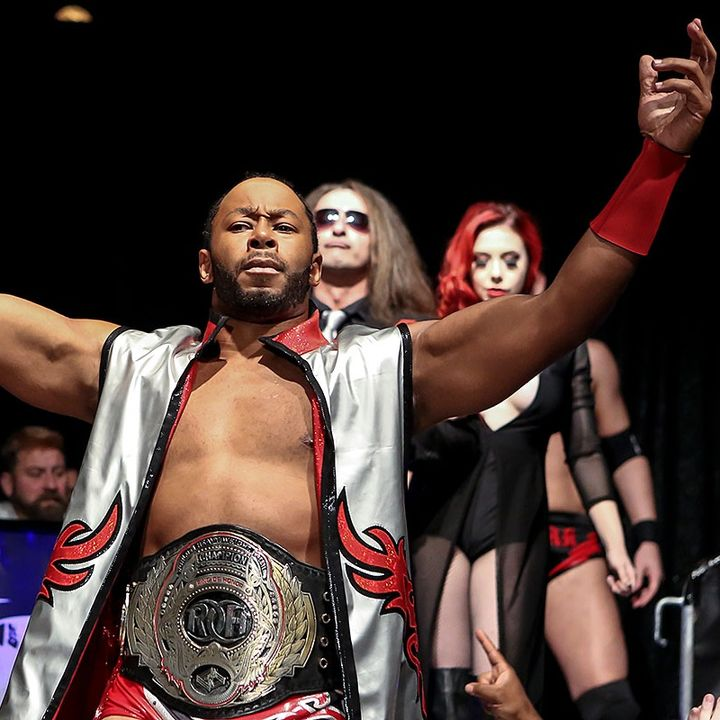 J.Hood with ROH World's Champion Jay Lethal