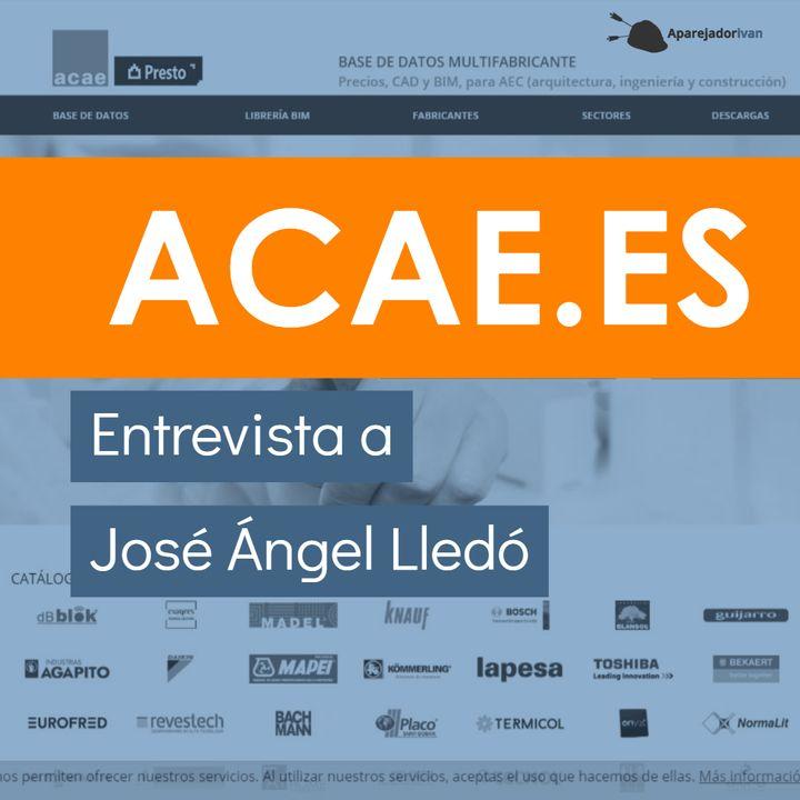 Entrevista a José Ángel Lledó de Acae.es